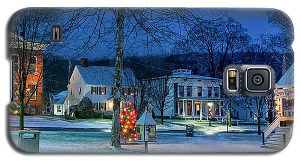 Village Of New Milford - Winter Panoramic Galaxy S5 Case