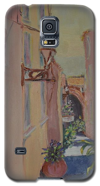 Galaxy S5 Case featuring the painting Ville Franche by Julie Todd-Cundiff