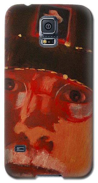 Galaxy S5 Case featuring the painting Vincent Hat by Ron Richard Baviello
