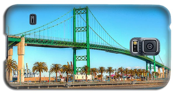 Galaxy S5 Case featuring the photograph Vincent Thomas Bridge by Jim Carrell