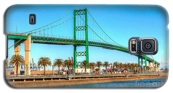 Vincent Thomas Bridge Galaxy S5 Case by Jim Carrell