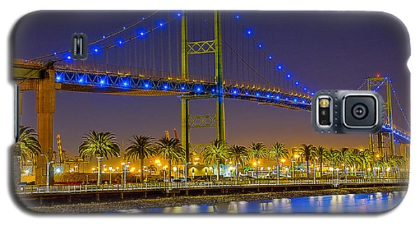 Galaxy S5 Case featuring the photograph Vincent Thomas Bridge - Nightside by Jim Carrell