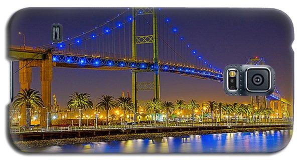 Vincent Thomas Bridge - Nightside Galaxy S5 Case by Jim Carrell
