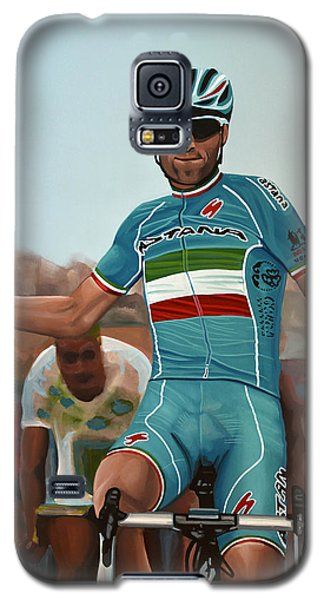Vincenzo Nibali Painting Galaxy S5 Case by Paul Meijering