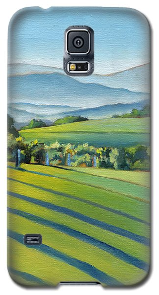 Vineyard Blue Ridge On Buck Mountain Road Virginia Galaxy S5 Case by Catherine Twomey