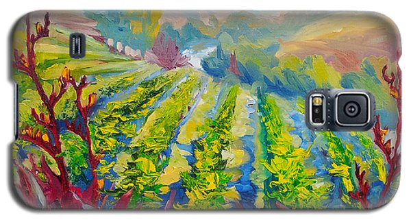 Vineyard Scene Oil Painting Galaxy S5 Case