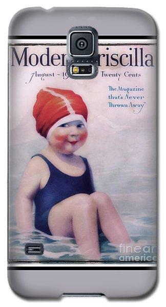 Vintage 1924 - Modern Priscilla Galaxy S5 Case by Ella Kaye Dickey