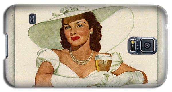 Galaxy S5 Case featuring the digital art Vintage Ballintine Beer Ad by Allen Beilschmidt