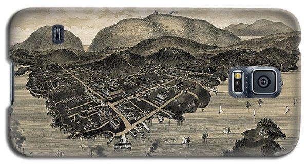 Vintage Bar Harbor Map Galaxy S5 Case