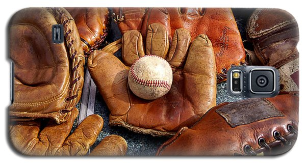 Vintage Baseball Galaxy S5 Case by Art Block Collections