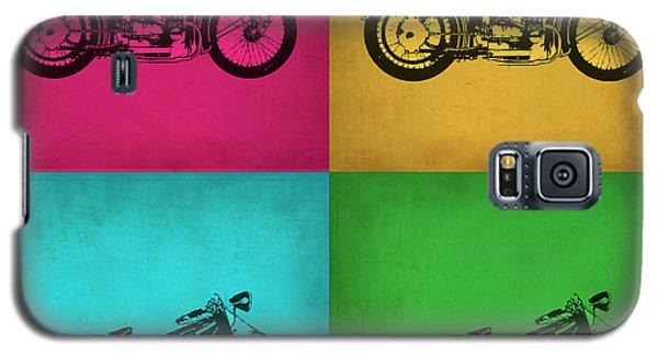 Motorcycle Galaxy S5 Case - Vintage Bike Pop Art 1 by Naxart Studio