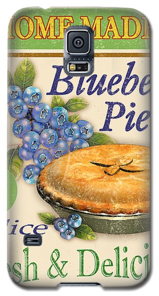 Vintage Blueberry Pie Sign Galaxy S5 Case by Jean Plout