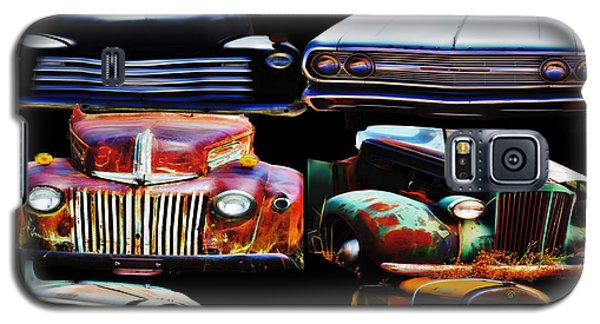 Vintage Cars Collage 2 Galaxy S5 Case by Cathy Anderson