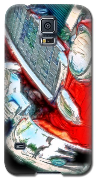 Vintage Chevy Art Alley Cat 3 Red Galaxy S5 Case