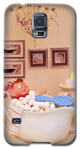 Vintage Christmas Elf Bubble Bath Galaxy S5 Case