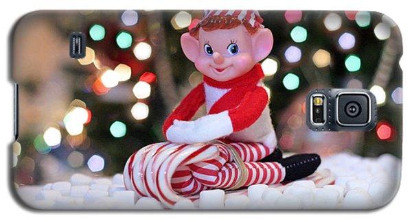 Vintage Christmas Elf Sliding Galaxy S5 Case by Barbara West
