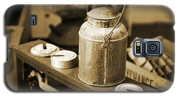 Galaxy S5 Case featuring the photograph Vintage Creamery In Sepia by Lincoln Rogers