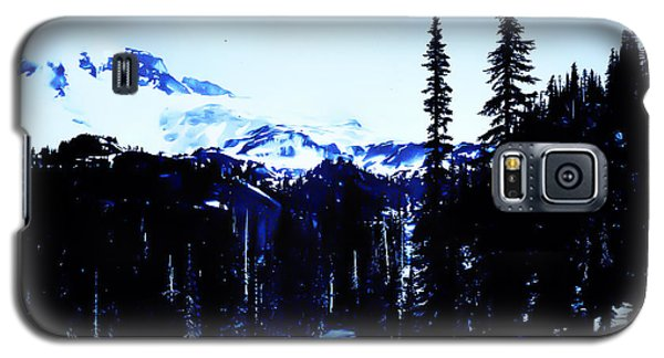 Galaxy S5 Case featuring the photograph Vintage... Driving Up To Mount Rainier Early 1900 Era... by Eddie Eastwood