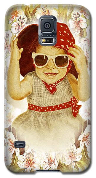 Galaxy S5 Case featuring the painting Vintage Fashion Girl by Irina Sztukowski
