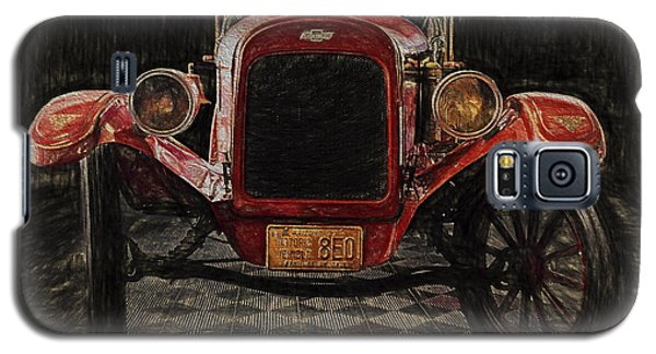 Vintage Fire Truck  ... Galaxy S5 Case by Chuck Caramella