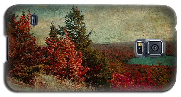 Vintage Inspired Adirondack Mountains In Fall Colors Galaxy S5 Case by Brooke T Ryan