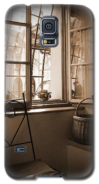 Vintage Interior With A Wooden Framed Window Galaxy S5 Case