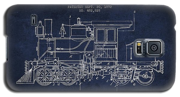Train Galaxy S5 Case - Vintage Locomotive Patent From 1892 by Aged Pixel