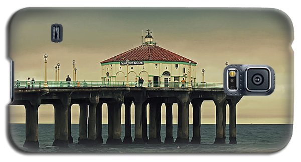 Vintage Manhattan Beach Pier Galaxy S5 Case