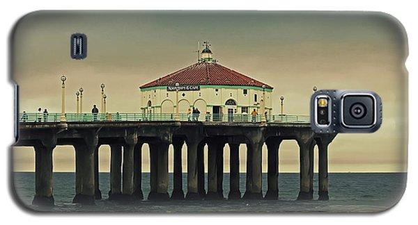 Vintage Manhattan Beach Pier Galaxy S5 Case