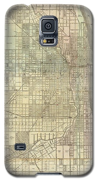 Vintage Map Of Chicago - 1857 Galaxy S5 Case