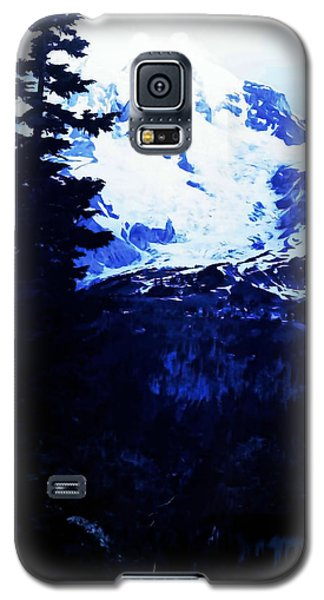Galaxy S5 Case featuring the photograph Vintage Mount Rainier And Reflexion Lake In The Foreground Early 1900 Era... by Eddie Eastwood