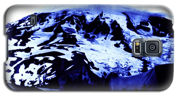 Galaxy S5 Case featuring the photograph Vintage Mount Rainier At Twilight Early 1900 Era... by Eddie Eastwood