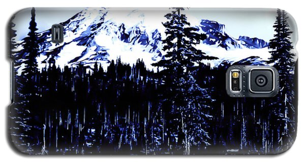 Galaxy S5 Case featuring the photograph Vintage Mount Rainier Early 1900 Era... by Eddie Eastwood