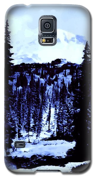 Galaxy S5 Case featuring the photograph Vintage Mount Rainier Forest Early 1900 Era... by Eddie Eastwood