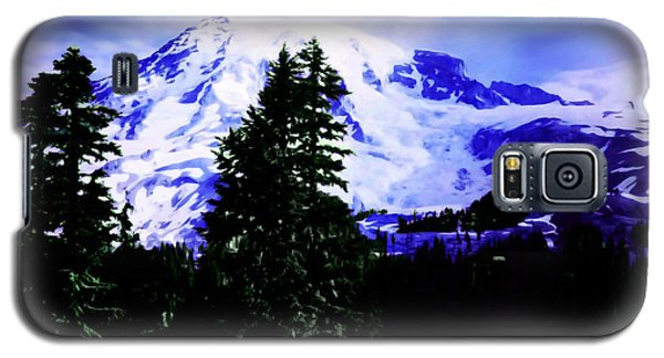 Galaxy S5 Case featuring the photograph Vintage Mount Rainier From Pinnacle Peak Early 1900 Era... by Eddie Eastwood