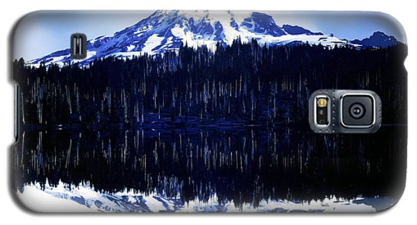 Galaxy S5 Case featuring the photograph Vintage Mount Rainier From Reflection Lake Early 1900 Era... by Eddie Eastwood