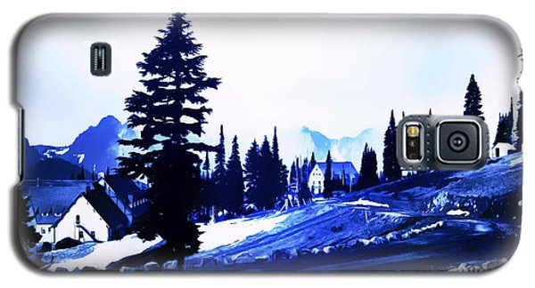 Galaxy S5 Case featuring the photograph Vintage Mount Rainier Lodge Early 1900 Era... by Eddie Eastwood