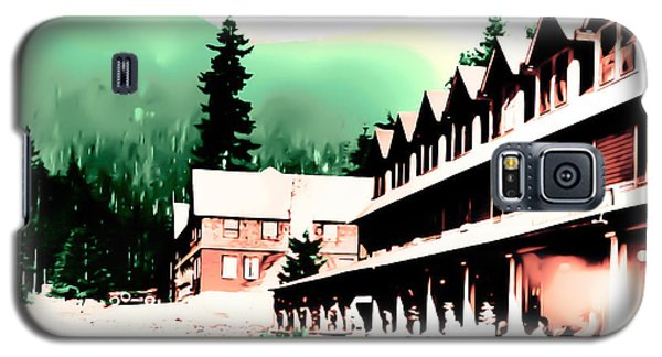 Galaxy S5 Case featuring the photograph Vintage Mount Rainier National Park Inn Early 1900 Era... by Eddie Eastwood