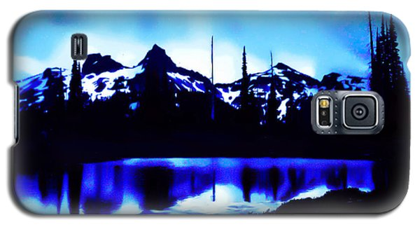 Galaxy S5 Case featuring the photograph Vintage Mount Rainier With Longmire Springs In The Foreground Early 1900 Era... by Eddie Eastwood