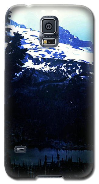 Galaxy S5 Case featuring the photograph Vintage Mount Rainier With Reflexion Lake Early 1900 Era... by Eddie Eastwood