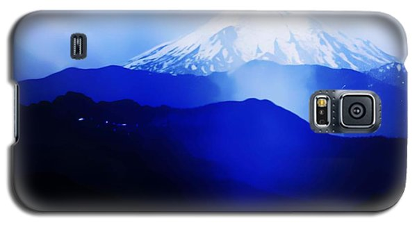 Galaxy S5 Case featuring the photograph Vintage Mount St. Helens From Pinnacle Peak Early 1900 Era... by Eddie Eastwood