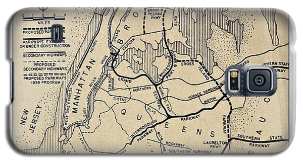 Vintage Newspaper Map Galaxy S5 Case