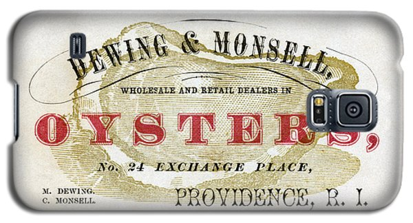 Vintage Oyster Dealers Trade Card Galaxy S5 Case