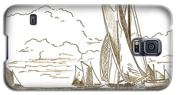 Vintage Oyster Schooners  Galaxy S5 Case by Nancy Patterson