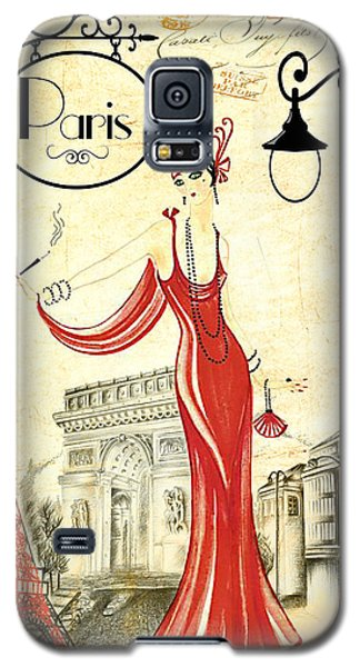 Vintage Paris Woman Galaxy S5 Case