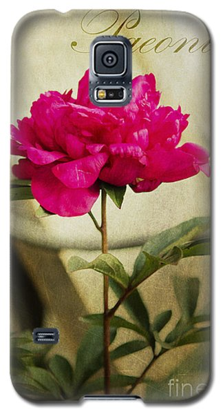 Vintage Peony Galaxy S5 Case by MaryJane Armstrong