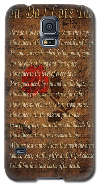 Vintage Poem 4 Galaxy S5 Case by Andrew Fare
