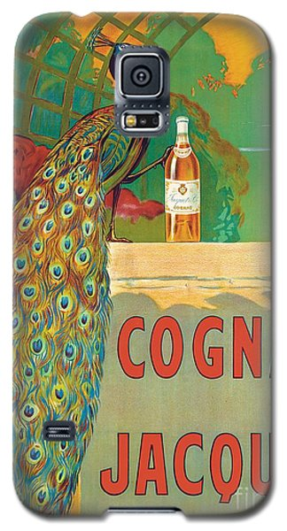 Peacock Galaxy S5 Case - Vintage Poster Advertising Cognac by Camille Bouchet