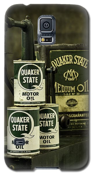 Vintage Quaker State Motor Oil Galaxy S5 Case by Betty Denise
