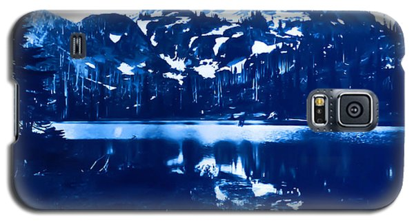 Galaxy S5 Case featuring the photograph Vintage Reflection Lake  With Ripples Early 1900 Era... by Eddie Eastwood